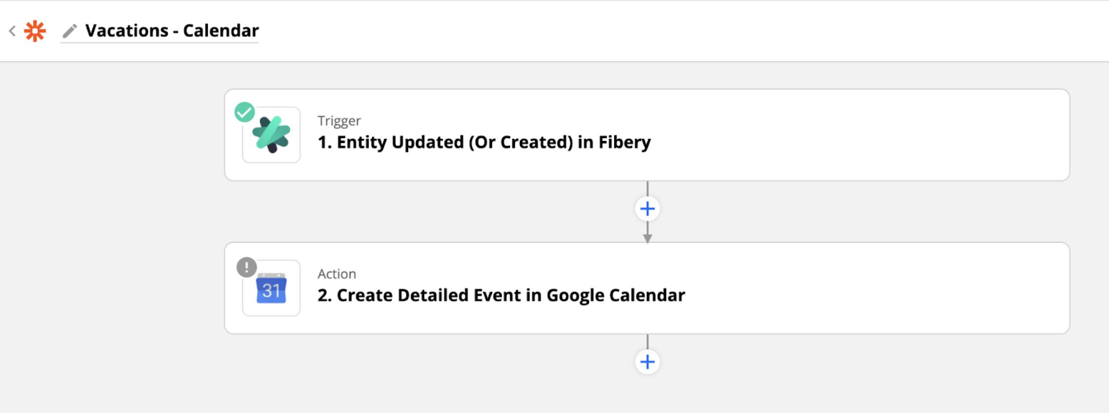 vacation on a Google Calendar